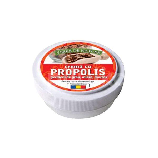 Cremă cu propolis, germeni de grâu, morcov și miere de albine, Manicos,15 g