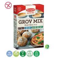 Mix făină grosieră cu conținut ridicat de fibre fără gluten și fără lactoză, Semper, 500 g