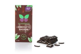 Ciocolata amaruie 70% cu indulcitor din stevie, 100 g