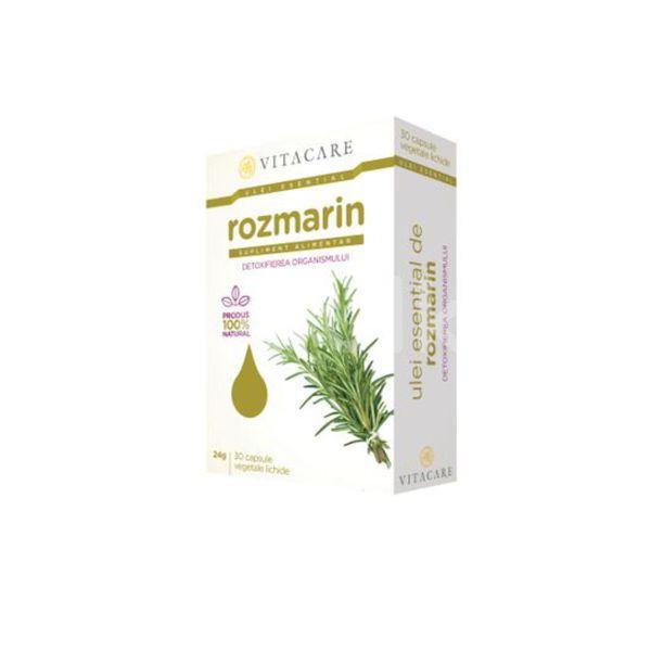 Ulei esențial de rozmarin, VitaCare, 30 cps