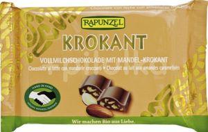 Ciocolată Bio Cristallino cu migdale crocante HIH Rapunzel
