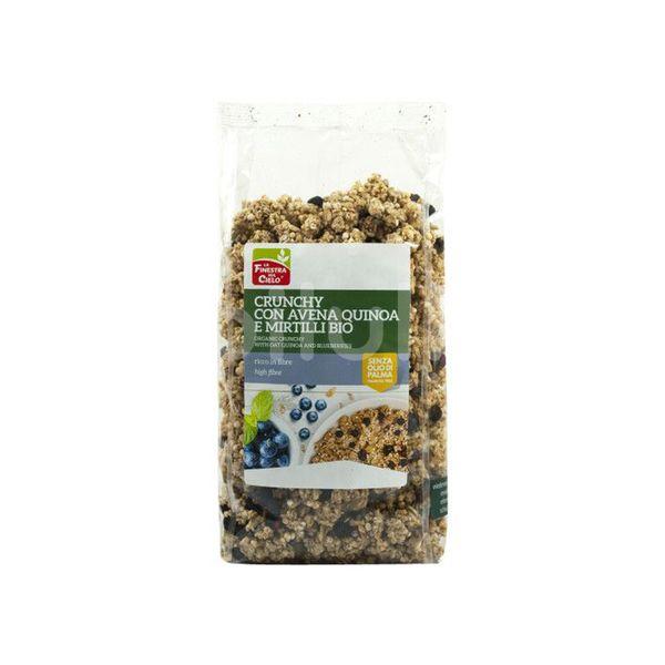 ECO Musli crocant cu fulgi ovaz, quinoa si afine 375g