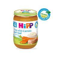 Eco Hipp- orez cu morcov și vițel, 190 g