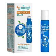 Roll-on pentru dureri de cap cu 9 uleiuri esentiale Headache, PURESSENTIEL, 5 ml