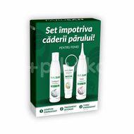 Parusan Set împotriva căderii părului pentru femei, Șampon 200 ml + Tonic 200 ml + Tratament 50 ml, Theiss Naturwaren