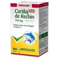 Cartilaj Rechin 740 mg + Vitamina C Wallmark, 100 capsule
