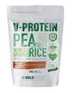 Pudră proteică vegetală V-Protein cu aromă de alune de pădure, 240 g