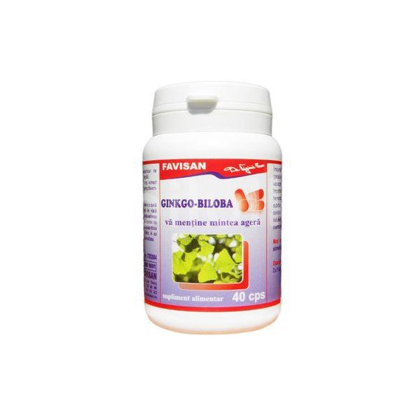 Ginkgo Biloba, Favisan, 40 cps