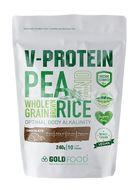 Pudră proteică vegetală V-Protein cu aromă de ciocolată, 240 g