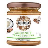 Unt de arahide cu cocos bio, Biona, 170g