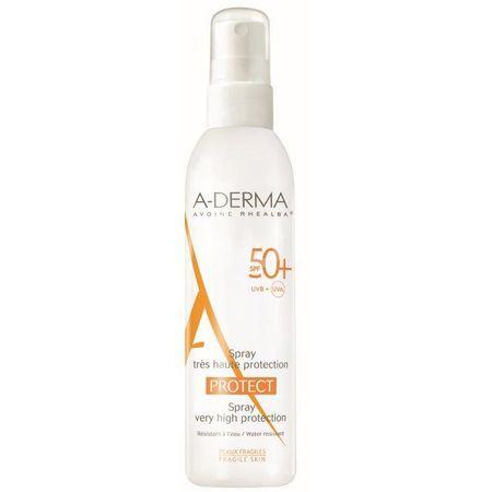 Spray cu protectie solara A-Derma Protect, SPF 50+, 200 ml