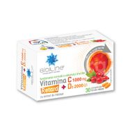 Vitamina C 1000 mg + Vitamina D3 2000 UI RETARD, BioSunLine, 30 comprimate