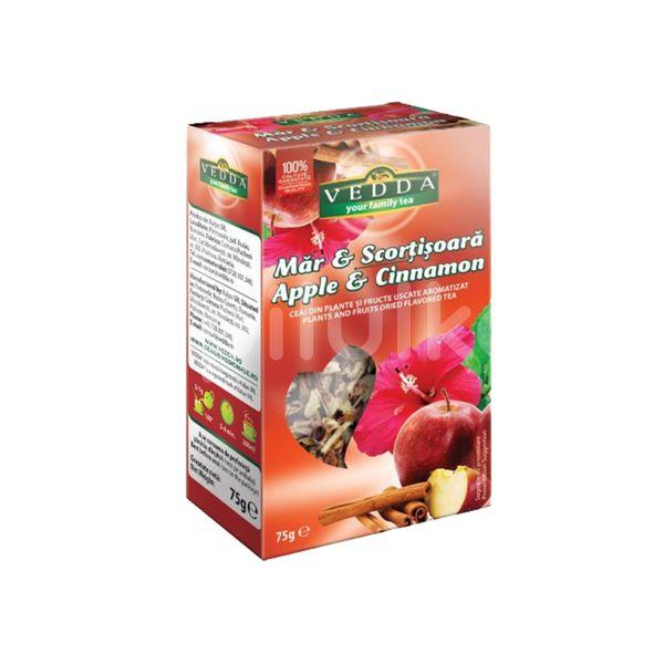 Ceai de măr cu scorțișoară, Vedda, 75 gr