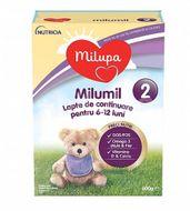 Lapte praf Milumil 2, incepand de la 6 luni, Milupa, 600 g