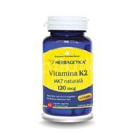 Vitamina K2 MK7 naturală 120 mcg, Herbagetica, 60cps vegetale