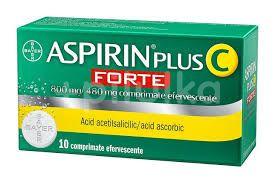 Aspirin plus C forte 800mg/480mg, Bayer, 10cpr efervescente