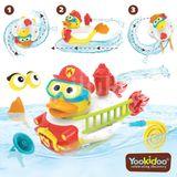 Jucărie- Rața pompier cu motor și 15 accesorii, 2- 6 ani, Yookidoo