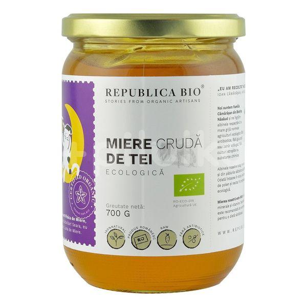 Miere de Tei ecologică crudă, Republica Bio, 700 g