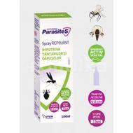 Spray repelent împotriva țânțarilor și a căpușelor, Parasites, + 3 luni, 100 ml