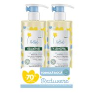 Ofertă pachet gel spumant pentru păr și corp, Klorane Bebe, 500 ml-  1 +70% OFF