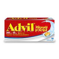 Advil Răceală și Gripă 200 mg/ 30 mg, 10 capsule moi