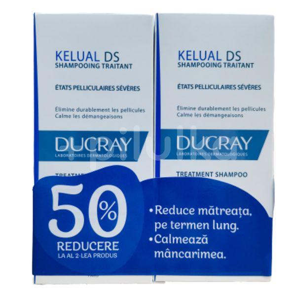 Pachet Sampon tratament Ducray Kelual DS, 100ml, 1+1 (50% reducere la al doilea)