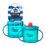 Cana First Cup Tommee Tippee, Albastru, 190 ml x 1 buc