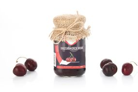 Dulceata de cirese negre fara zahar, 300 g
