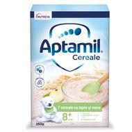 Șapte Cereale cu lapte și mere, Aptamil, 250 g