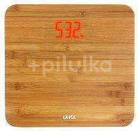 Cântar corporal electronic din lemn de bambus PS1067, Laica, capacitate 150 kg