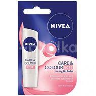 Balsam de buze Care & Colour Pink, Nivea, 4.8 g