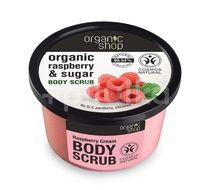 Scrub de corp delicios cu zahar si zmeura Raspberry Cream, 250 ml - Organic Shop