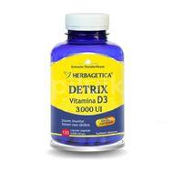 Detrix Vitamina D3 3.000UI, Herbagetica, 120 cps vegetale