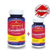 Curcumin + C3 complex, Herbagetica, 60cps + 10cps GRATIS