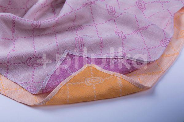 Set 2 Scutece Multifunctionale, 45x45cm, Casmir vegetal, Orange & Purple