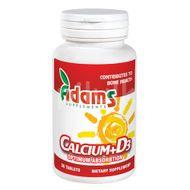 CALCIU+VITAMINA D3 30CPR, Adams Supplements