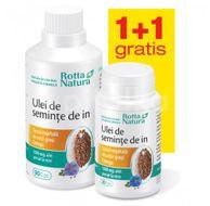 Pachet Ulei de semințe de in, 90 capsule + GRATUIT Ulei de semințe de in, 30 capsule
