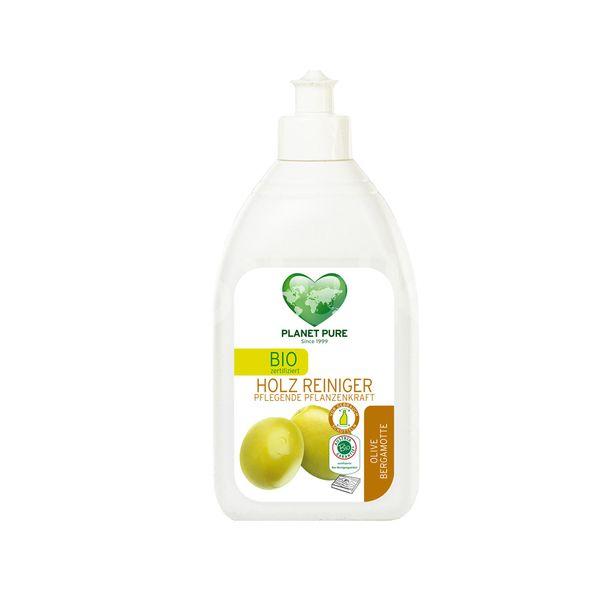 Detergent pentru Lemn cu Masline si Bergamota - Bio, Planet Pure, 510 ml