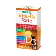 Vitamina D3 forte 3000UI, Beres, 30cpr