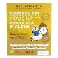 Pernuțe Bio crocante cu cremă de ciocolată și alune fără gluten, Republica Bio, 250 g