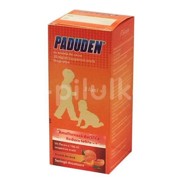 Suspensie orala Paduden - aromă de caise 20mg/ml, Terapia, 100ml