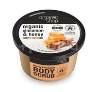 Scrub de corp delicios cu miere si scortisoara Honey Cinnamon, 250 ml - Organic Shop