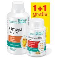 Pachet 1+1 Omega 3 6 9, 90 capsule + Coenzima Q10 15 mg, 30 capsule
