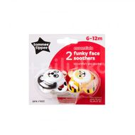 Tommee Tippee - Suzete Funky Face 6-12 luni 2 buc