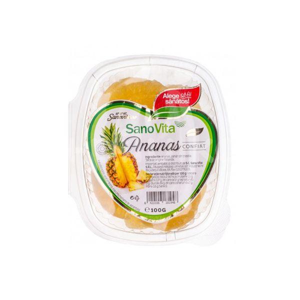 Ananas confiat, Sanovita, 100 gr