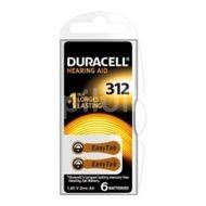Baterie pentru aparat auditiv DA312,Duracell,  6buc