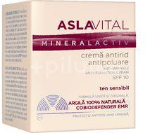 Cremă antirid și antipoluare SPF 10 AslaVital, 50 ml