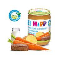 Eco Hipp- morcovi și cartofi cu miel, 190 g