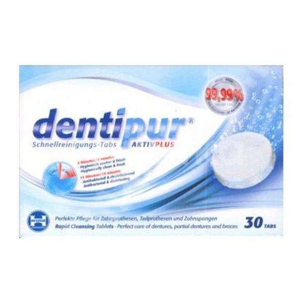 Tablete pentru curățarea protezelor Dentipur AktivPlus, 30 tablete, Helago Pharma