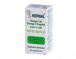 Omega 3 & Omega 6 pentru copii inteligenți, Hofigal, 60cps